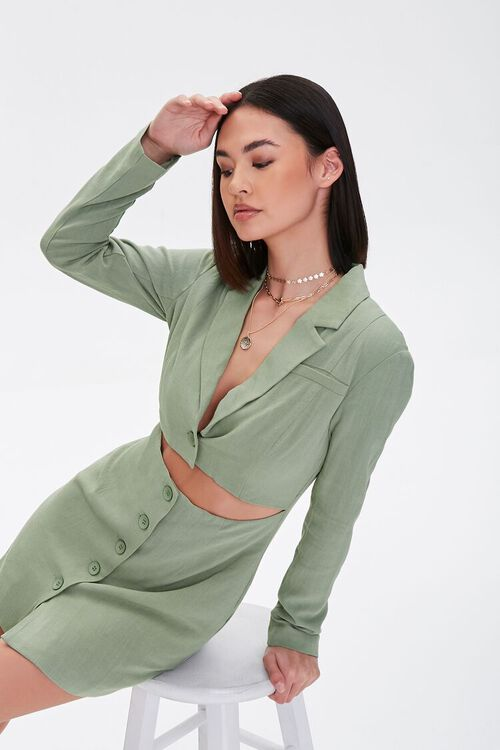 Cutout Blazer Mini Dress, image 1