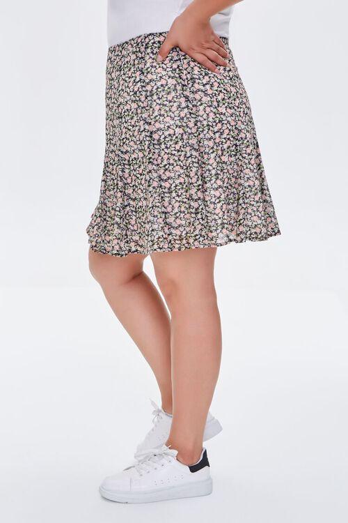 Plus Size Floral Print Mini Skirt, image 3