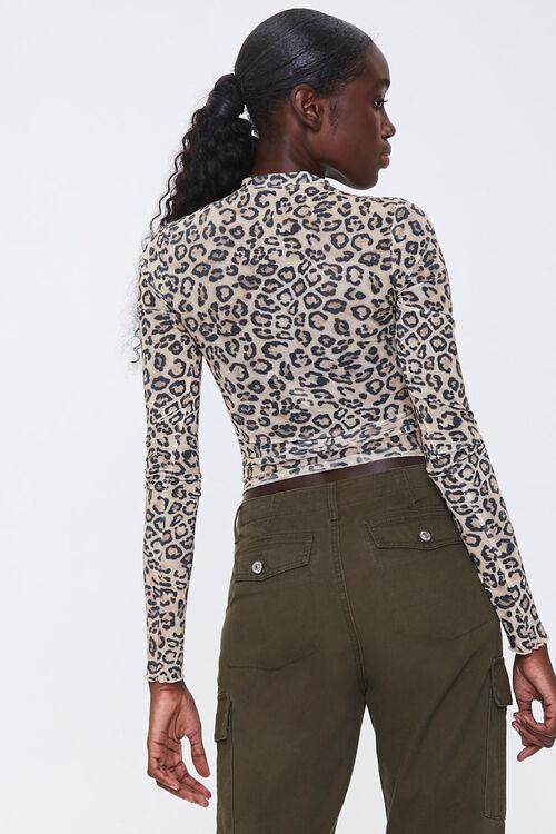 Leopard Print Mock Neck Top, image 3
