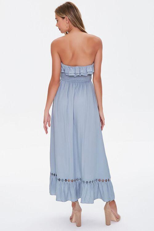 Strapless Ruffle-Trim Maxi Dress, image 3