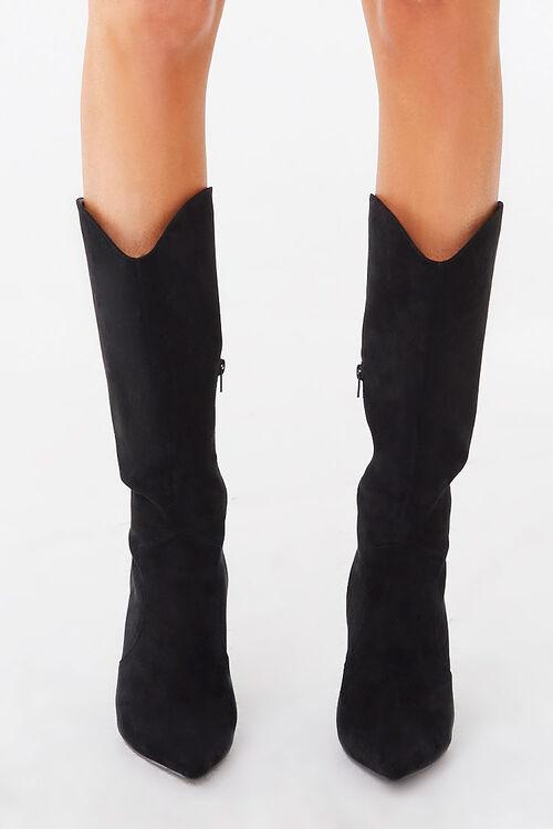 Faux Suede Block Heel Boots, image 2