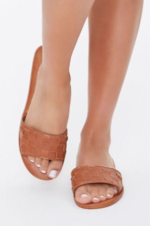 Basketwoven Slip-On Flat Sandals, image 4