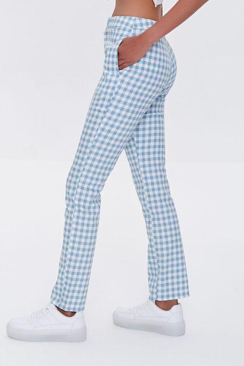 Gingham Straight-Leg Pants, image 3