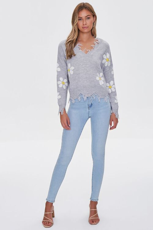 Distressed Daisy Sweater, image 4