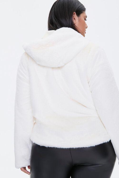 Plus Size Plush Hooded Jacket, image 3