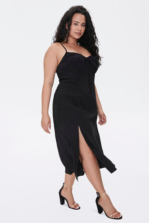 Plus Size Monochrome Print Midi Dress, image 2