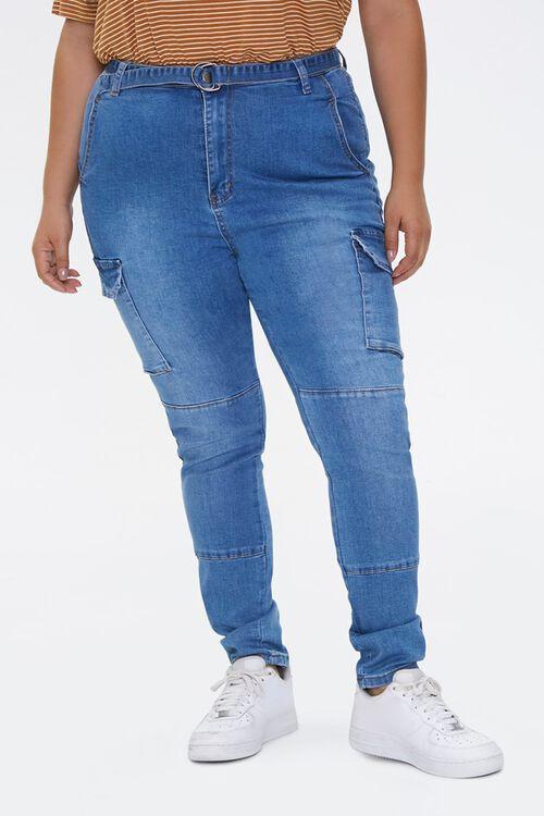 Plus Size Cargo Jeans, image 2