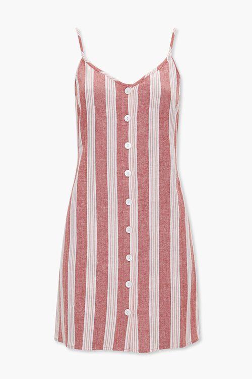Linen-Blend Striped Cami Dress, image 5