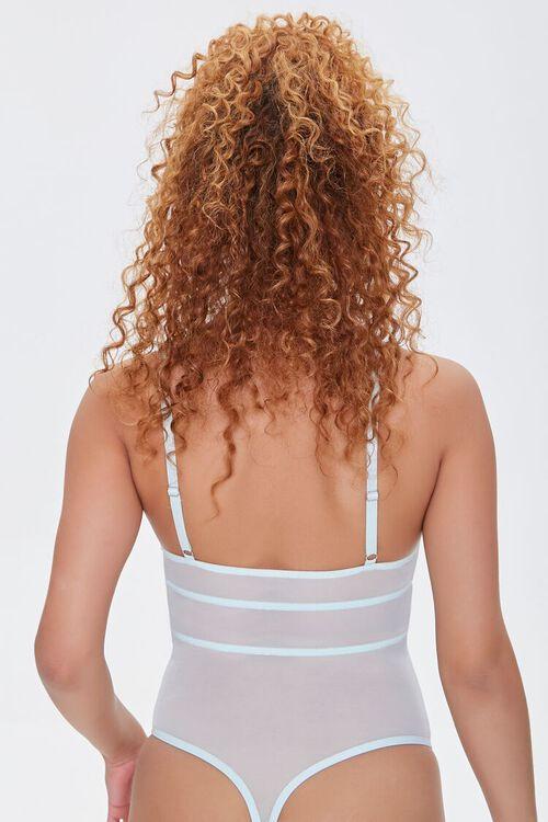 Sheer Lace-Trim Bodysuit, image 3