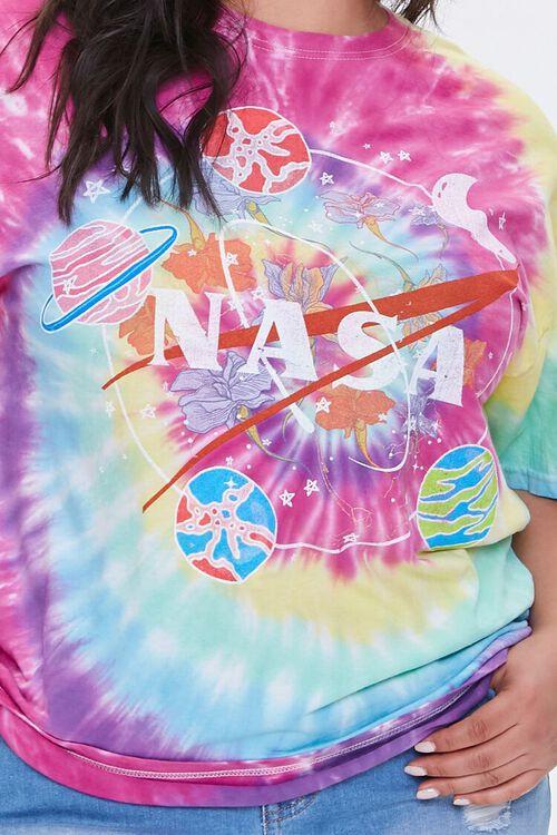 Plus Size NASA Tie-Dye Graphic Tee, image 5