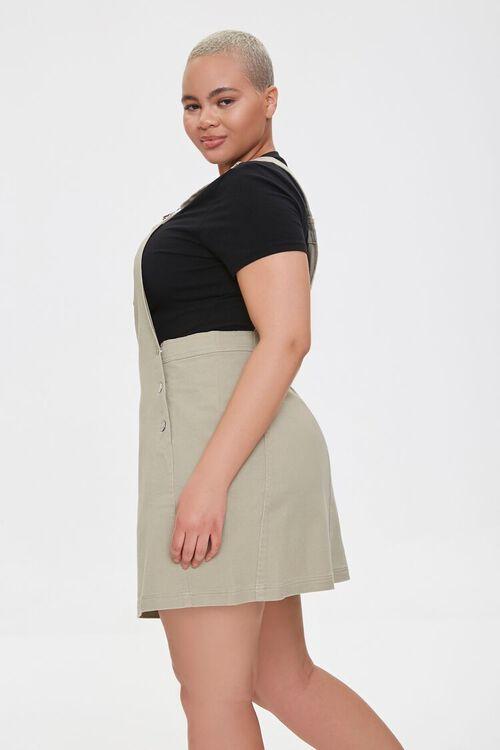 Plus Size Denim Overall Dress, image 2
