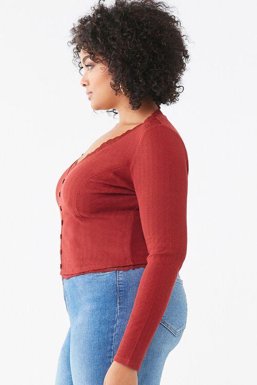 Plus Size Lace-Trim Top, image 2