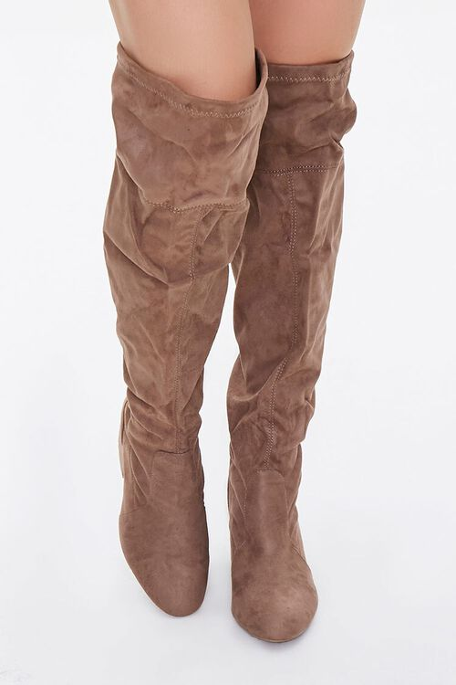 Faux Suede Over-the-Knee Boots (Wide), image 4