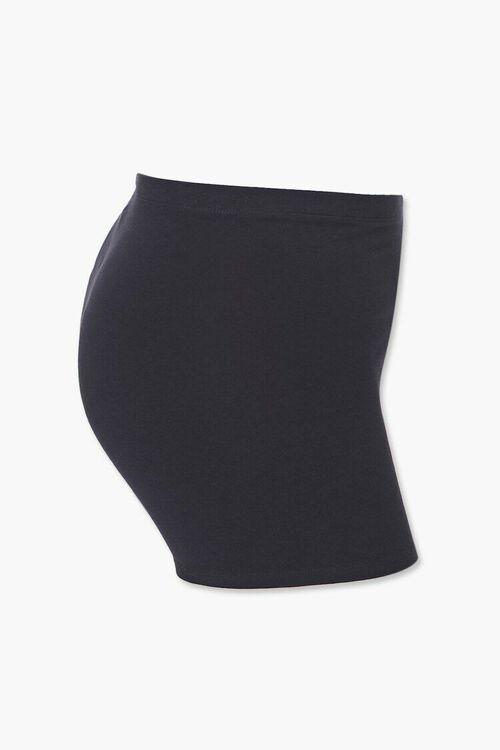 Plus Size Basic Knit Shorts, image 2