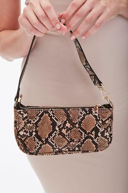 Faux Snakeskin Shoulder Bag, image 2