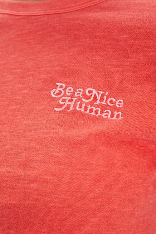 Be A Nice Human Embroidered Tee, image 5