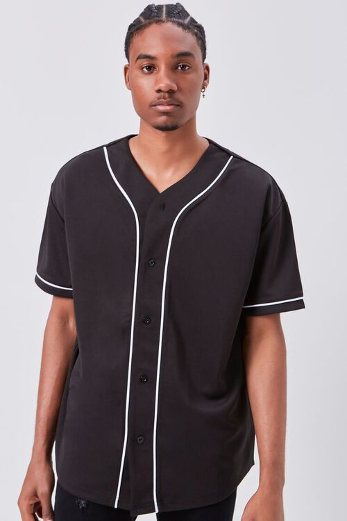 Contrast Piped-Trim Shirt, image 1