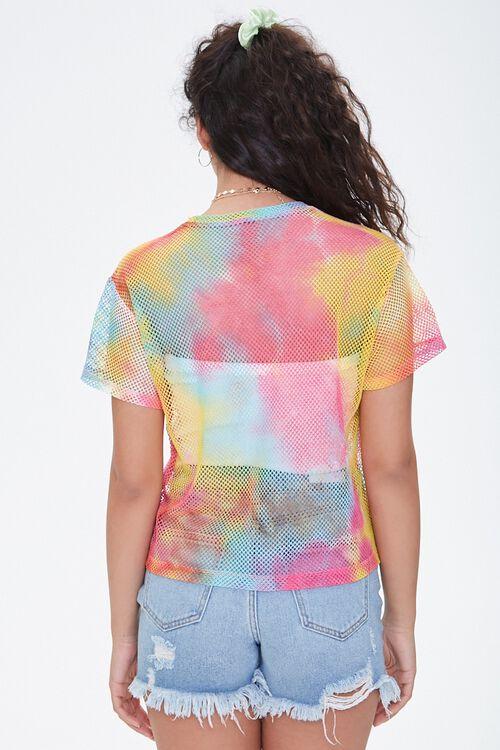 Sheer Tie-Dye Jersey Mesh Tee, image 3