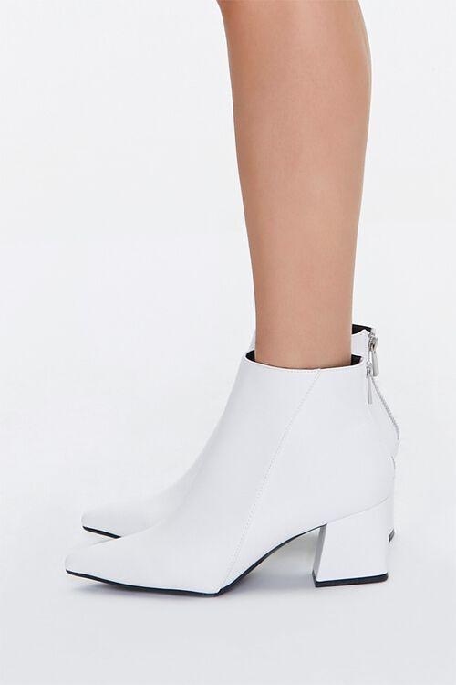 Pointed Toe Block Heel Booties, image 2