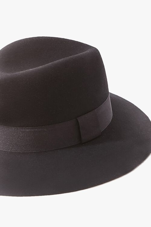 Brushed Ribbon-Trim Fedora, image 3