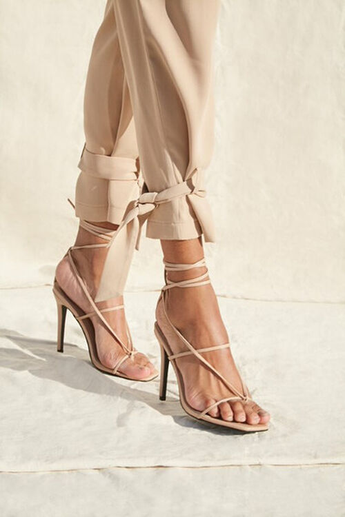 Strappy Toe-Thong Stiletto Heels, image 1