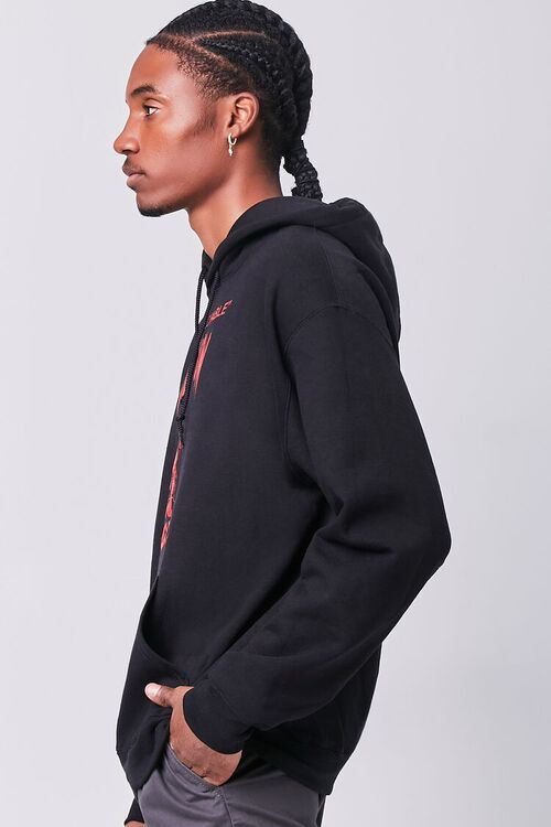 BLACK/RED Death Row Records Graphic Hoodie, image 2
