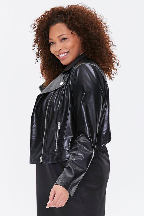 Plus Size Vented Moto Jacket, image 2