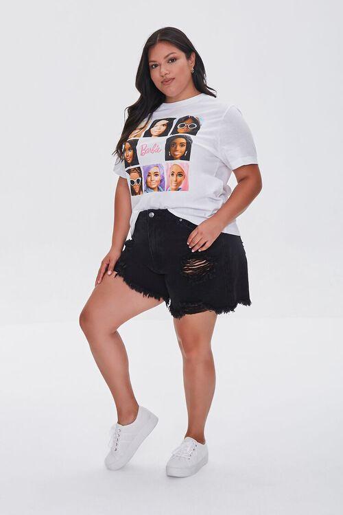 WHITE/MULTI Plus Size Barbie™ Graphic Tee, image 4