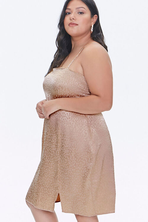 Plus Size Jacquard Cami Dress, image 2