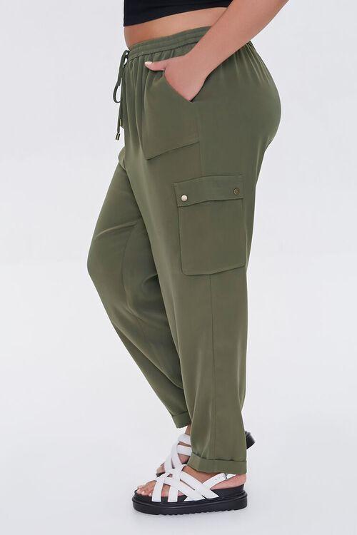 Plus Size Drawstring Cargo Pants, image 3