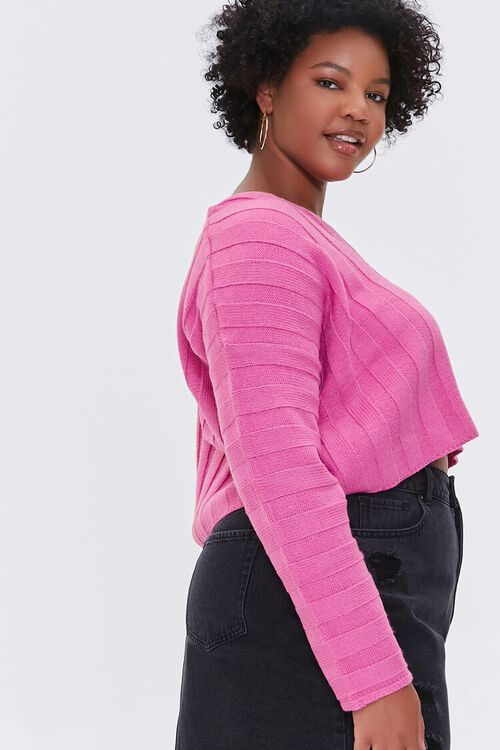 Plus Size Ribbed Drop-Sleeve Sweater, image 2