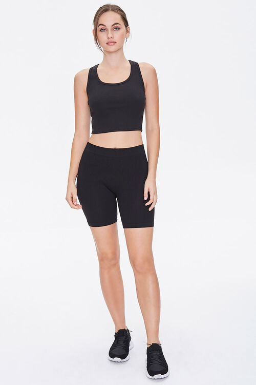 Active Ribbed Cropped Tank Top, image 4