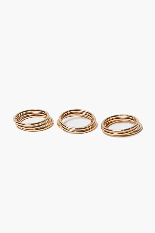 GOLD Stackable Ring Set, image 2