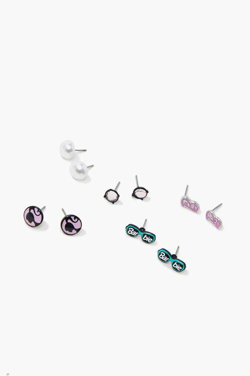PINK/MULTI Girls Barbie™ Stud Earrings Set (Kids), image 1