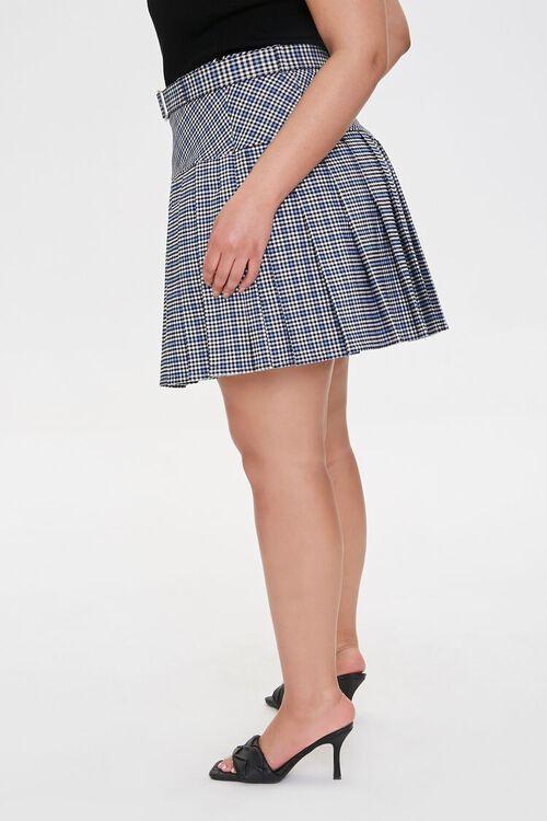 Plus Size Plaid Pleated Mini Skirt, image 3