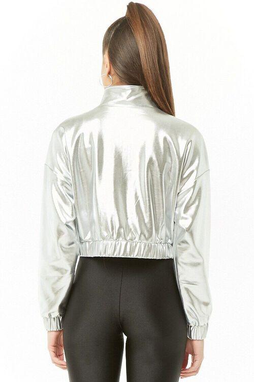 Metallic Cropped Jacket, image 3