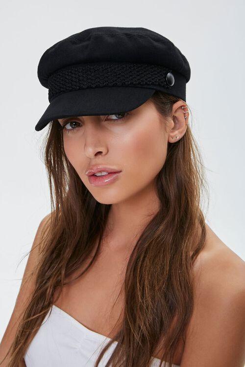 Grosgrain-Strap Cabbie Hat, image 1