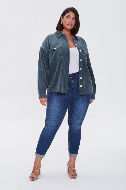 TEAL Plus Size Corduroy Jacket, image 4