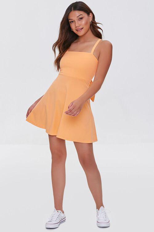 ORANGE Open-Back Skater Mini Dress, image 5