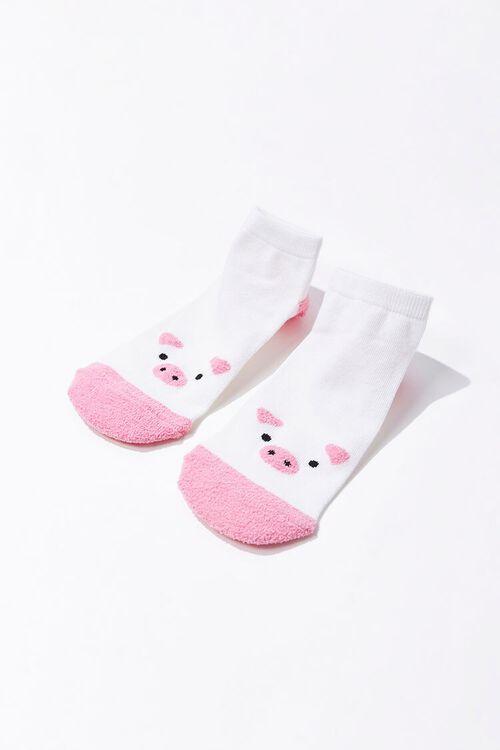 Pig Graphic Ankle Socks, image 2