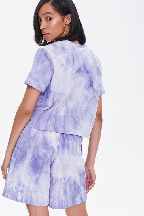 LAVENDER/CREAM Tie-Dye Tee & Shorts Set, image 3