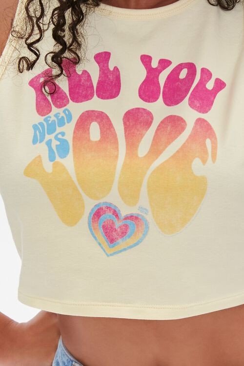 YELLOW/MULTI All You Need Is Love Crop Top, image 5