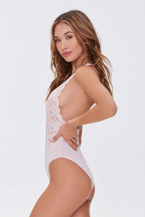 Plunging Floral Lace Bodysuit, image 2