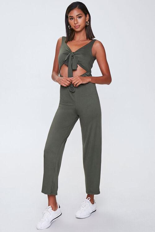Knotted Cutout Jumpsuit, image 1