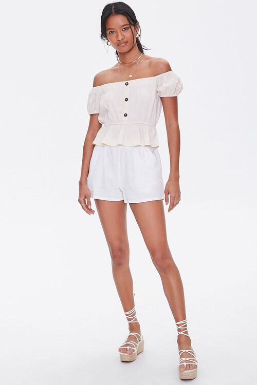 Off-the-Shoulder Puff Sleeve Top, image 4