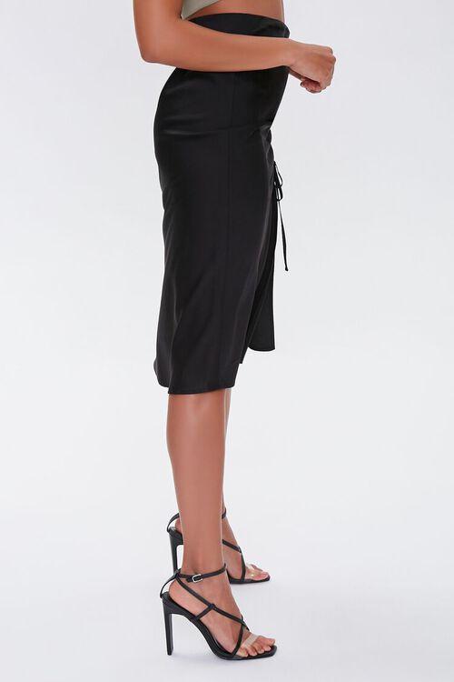 Satin Ruched Drawstring Skirt, image 3
