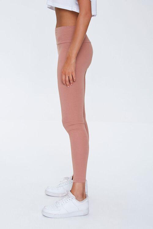 Basic Cotton-Blend Leggings, image 3