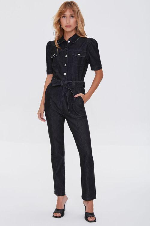 Denim Button-Up Jumpsuit, image 5