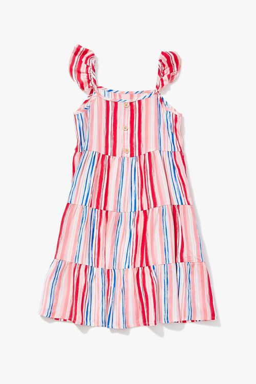 Girls Striped Tiered Dress (Kids), image 1