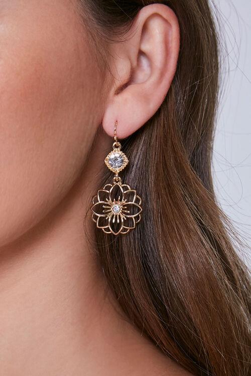 Floral Drop Earrings, image 1